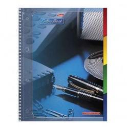 Тетрадь 120 л. А4 «Хатбер», 7БЦ, 4-цветный внутренний блок, спираль, кл., «Office Book» («Офис»)