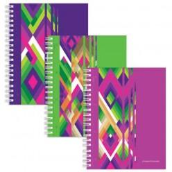 Тетрадь 120 л., А4, «Полиграфика», гребень, ламинированная картонная обложка, «Диагонали»