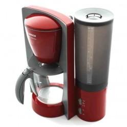 Кофеварка капельная BOSCH TKA6024V, объем 1,44 л, мощность 1100 Вт, подогрев, пластик, серо-красная