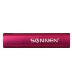 Аккумулятор внешний универсальный SONNEN PB-2200, емкость 2200 мАч, выходной ток 1А, розовый