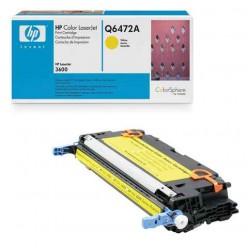 Картридж лазерный HP (Q6472A ) ColorLaserJet 3600/3600N/3600DN, желтый, оригинальный, ресурс 4000 стр.