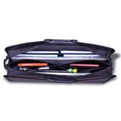 Портфель пластиковый BRAUBERG (БРАУБЕРГ) портфолио, А3, 470-380-130 мм, 3 отделения, на молнии, серый